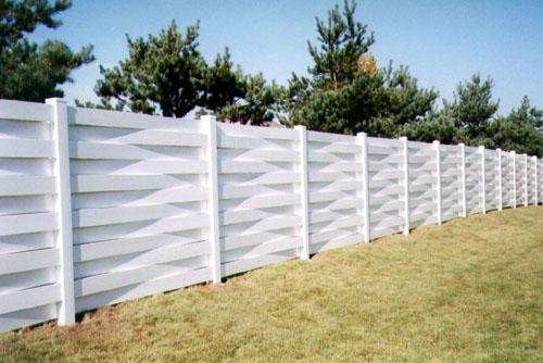Gray vinyl fence gate